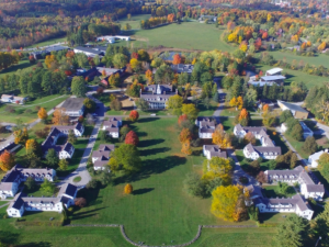 overhead photo of campus